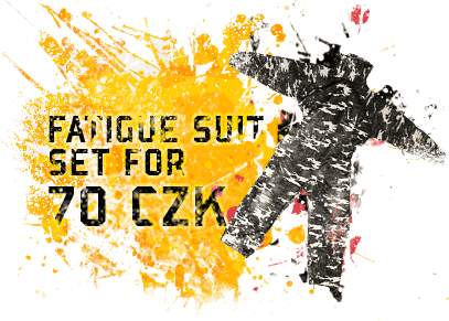 Fatigue suit set for 70 CZK